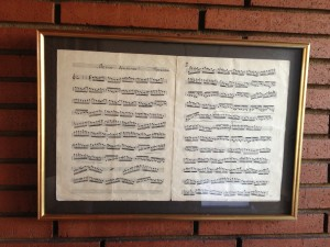 a page of sheet music hand-copied by my alter zeide for one of his friends