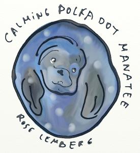 Calming polka-dot manatee