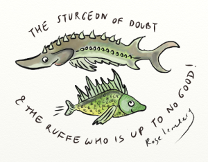 A sturgeon and a ruffe